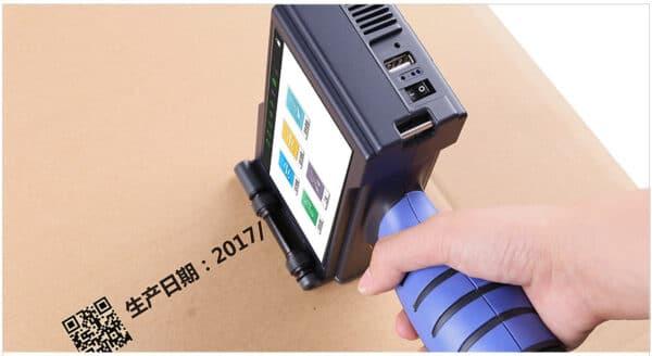 Ручной термоструйный маркиратор Sojet V1H печать на картоне