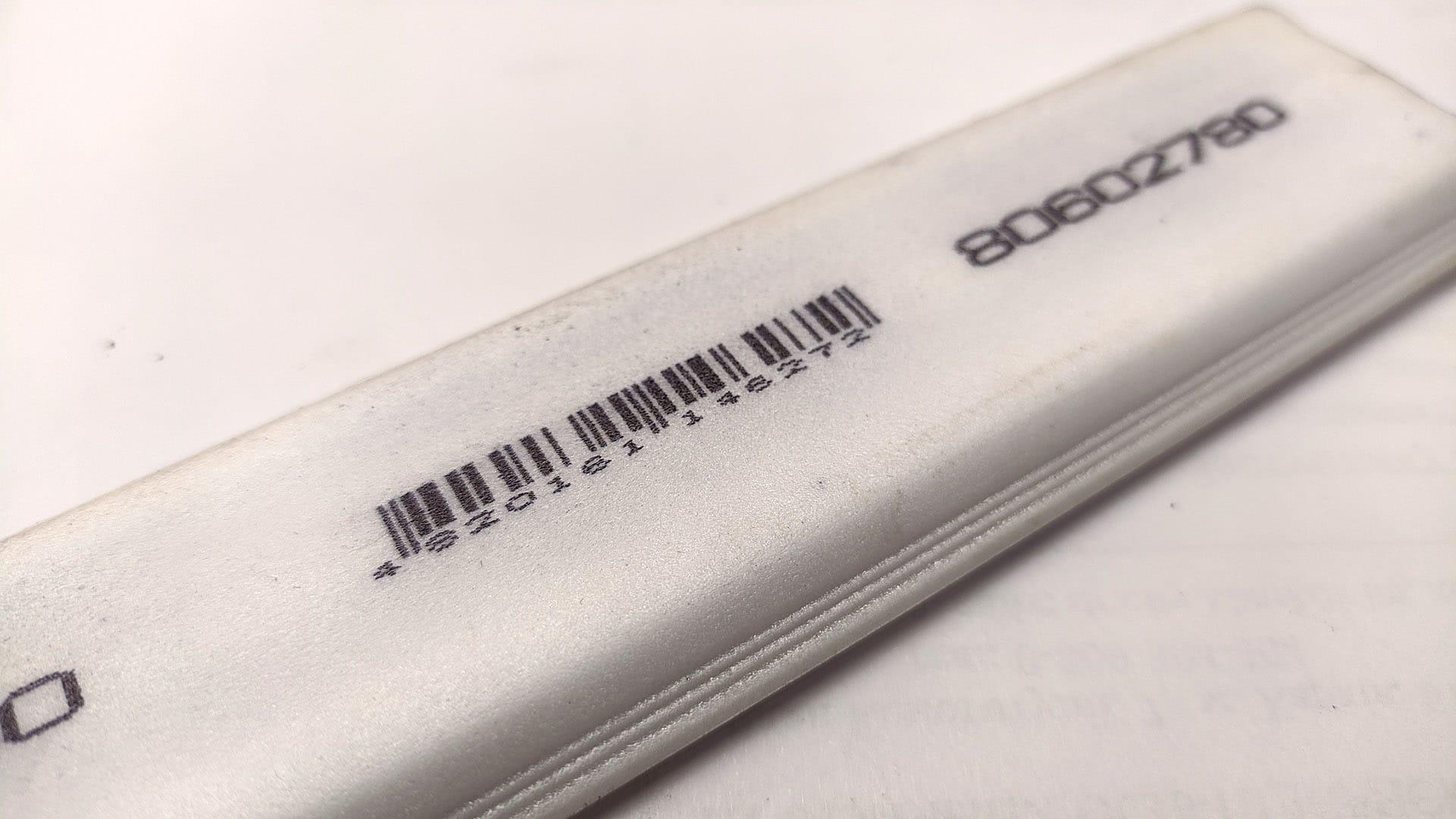 Каплеструйный маркиратор Willett 405 пример печати штрих-кода
